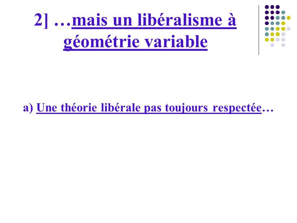 2] …mais un libéralisme à géométrie variable
